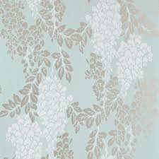 Silver Metallic Wallpaper by White Metallic Silver Duck Egg Blue Bp2214 Wisteria