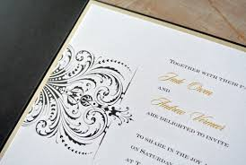 Invitation Pocket Gold White And Black Wedding Pocket Invitation Little Flamingo