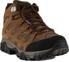 merrell men u0027s moab mid waterproof hiking boots earth 9 wide