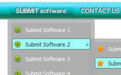 web 2 0 vertical menu template template