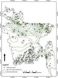 Map Of Unf Regional Extreme Rainfall Mapping For Bangladesh Using L Moment