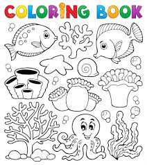 coral reef coloring pages free printable ecosystem snake