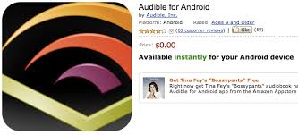 audible for android audible app for android free today with tina fey bossypants