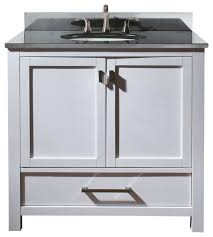 Country Style Bathroom Vanity Bathroom White Vanity With Black Top Country Style 27 Inch 36