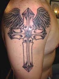 cross on shoulder designs pictures