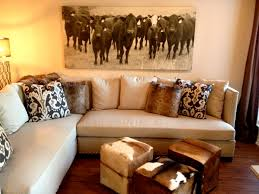 Cow Home Decor The Antiqued Canvas Print Is A That Adds A Degree Of