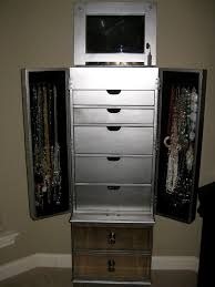White Armoire Bedroom Furniture Furniture Black Corner Mirror Jewelry Armoire With Nightstand And