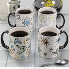 Coffe Cups by Atomic Age 50s Style Ceramic Coffee Mug Set Kitchen Mugs