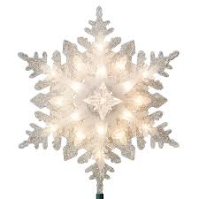 lighted tree topper shop ge 11 in silver lighted plastic snowflake christmas tree