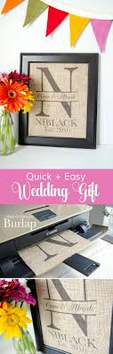 Custom Burlap Art Print Love - craftaholics anonymous皰 diy monogram wedding gift idea