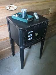 industrial faux metal nightstand hometalk