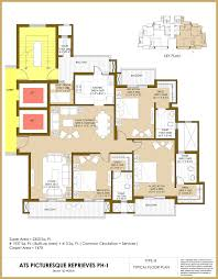 Floor Plans Definition by Ats Picturesque Reprieves Phase I Ats Infrastructure Ltd