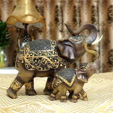 2pcs set lucky elephant ornaments european living room decoration