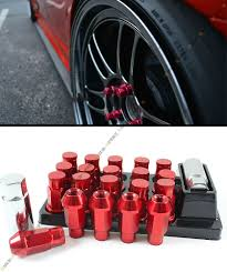 2005 nissan altima lug nut size r style extended red wheel lug nuts key locks for nissan s13 s14