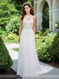 a line wedding dress chiffon a line wedding dress 117174 enchanting by mon cheri
