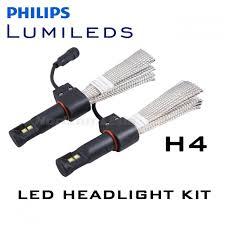 h4 hi lo philips lumileds luxeon headlight led kit 3000 lumens