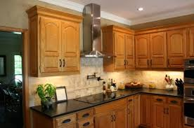kitchen backsplash ideas with oak cabinets countertop back splash combination of quartz countertop