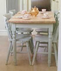 ebay dining table and 4 chairs wooden farmhouse table and 4 chairs hand painted in laura ashley