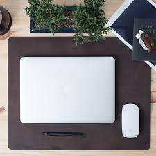 Brown Leather Desk Accessories Brown Leather Desk Mat Pad Mouse Pad Gifts For