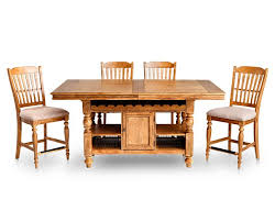 counter height dining room sets lake house 5 pc round dining room set furniture row
