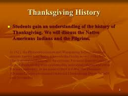 1 thanksgiving 2 thanksgiving history students gain an
