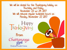 thanksgiving 2017 hours chattanooga federal credit