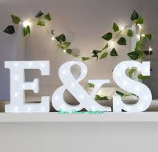 white light up letters freestanding initials led white light up wooden letters marquee