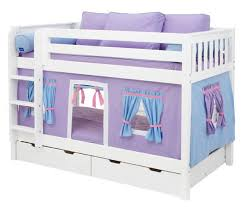 Purple Playhouse Bunk Bed In White By Maxtrix Kids - Maxtrix bunk bed