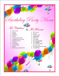 drink menu template free birthday menu template microsoft word templates