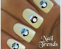 penguin nail etsy