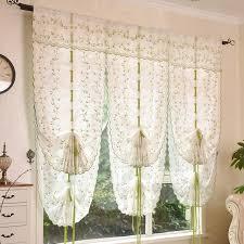 Tie Up Window Curtains 2016 Roman Shade European Embroidery Style Tie Up Window Curtain