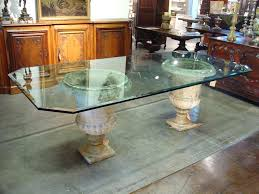 Round Glass Top Pedestal Table Emejing Glass Top Pedestal Dining Room Tables Photos