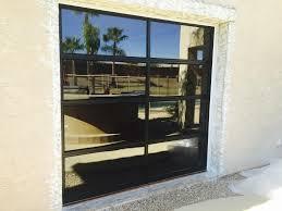 garage glass doors glass garage doors u2013 black frames u2013 grey glass u2013 door tech custom