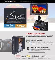 camera brands black lilliput a7s 7 inch 1920x1200 hd ips screen 500cd m2 camera