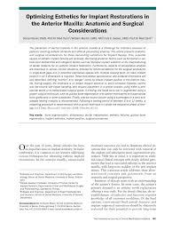 guided bone regeneration optimizing esthetics for implant restorations in the anterior
