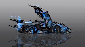 Lamborghini Aventador J Blue - 4k lamborghini aventador side transformer abstract car 2014 el tony
