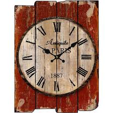wood wall clock vintage quartz large wall numbers