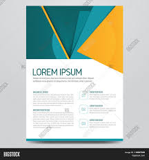 magazine cover with pattern triangle modern flat design booklet
