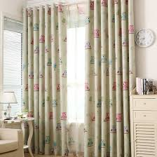 Curtain Cartoon by Cartoon Owl Blackout Curtain Fabric Shade Blinds Window Blue
