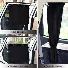 2 packs side window car sunshades pony dance car curtains