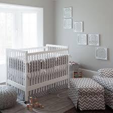 Grey And White Crib Bedding Bedding Cool Gray And White Dots Stripes Crib Bedding Neutral Baby