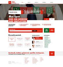 Resume Web Templates Website Template 47127 Job Searching Custom Website Template Job