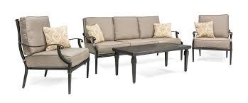 outdoor patio conversation sets 2 lila 4 piece patio furniture conversation set grey aluminum