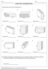 surface area volume worksheet free worksheets library download