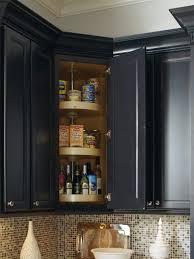 Corner Cabinet Black Upper Corner Kitchen Cabinet Storage Solutions Outofhome
