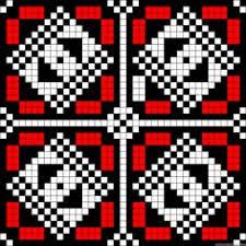 ornamental chart for cross stitch knitting knotting