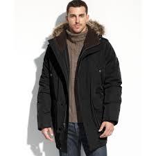 tommy hilfiger faux fur hooded snorkle performance parka in black