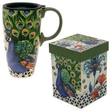 Travel Mug Kashmir Peacock Gift Boxed Travel Mug The Animal Rescue Site