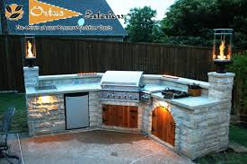 Patio Kitchen Design by Exterior Fancy Outdoor Living Space Design Ideas With Cream Stone