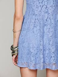 free people sleeveless miles of lace dress in blue lyst